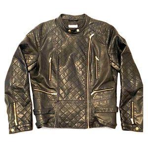 Calvin•Klein Faux-Leather Moto Jacket